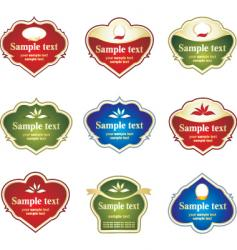 labels to create vector image vector image
