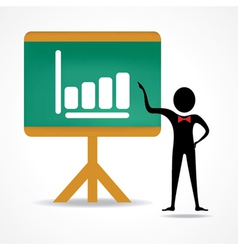 man with business chart vector image