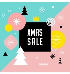Merry Christmas geometric scandinavian style vector image vector image