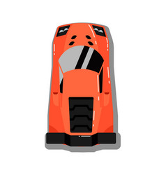 modern sport car top view icon vector image vector image