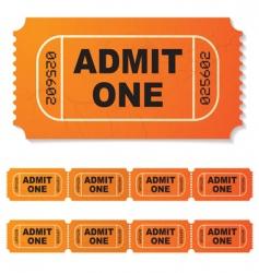 movie ticket vector image vector image