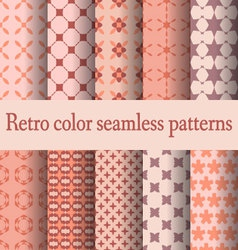 retro seamless pattern-02 vector image vector image