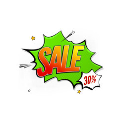 sale pop art splash background explosion in vector image vector image