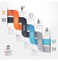 Business infographic ribbon style template vector image