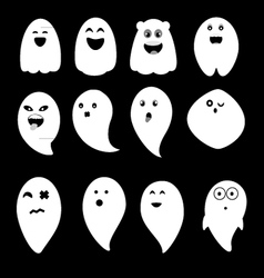 Cute ghosts vector image