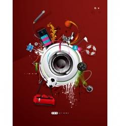 graffiti background vector image vector image
