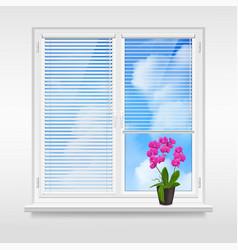 Home window design concept vector