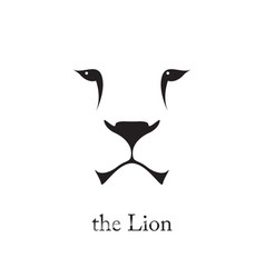 image of an lion head on white background vector image vector image