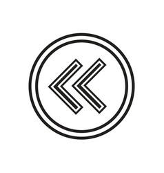 Left arrows icon vector