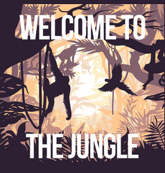 light jungle party poster vector image vector image