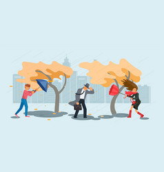 autumn stormy weather vector image