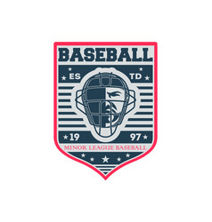 Baseball minor league competition vintage label vector
