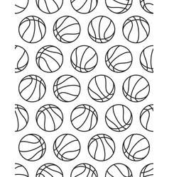 basketball contour pattern vector image