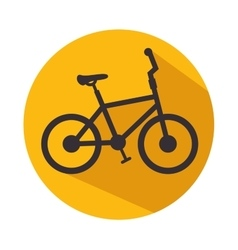 Bicycle icon fitness sport vector