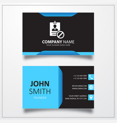 Block id card icon business card template vector