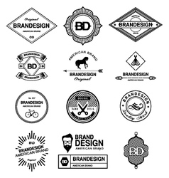 BRAND DESIGN ELEMENTS INDUSTRIAL STYLE vector image