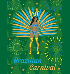 brazilian carnival rio de janeiro poster vector image
