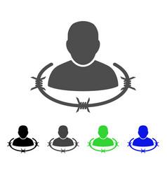 Captured man flat icon vector