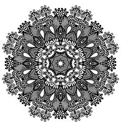 Circle lace ornament round ornamental geometric do vector
