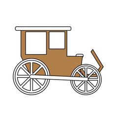 color silhouette image wedding carriage without vector image