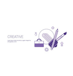 Creativity business concept process of creative vector
