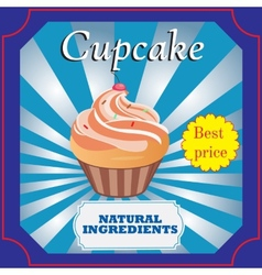 Cupcakes poster design vector image