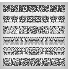 Decorative vintage borders vector image
