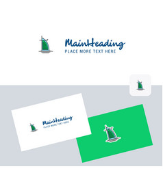 Dubai hotel logotype with business card template vector