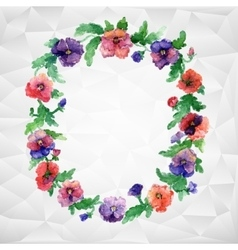 Ethnic pattern of flowers vector
