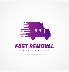 Fast removal logo vector
