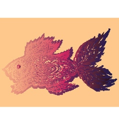 Fish grunge lineart3 vector