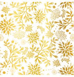 golden nautical seaweed pattern vector image