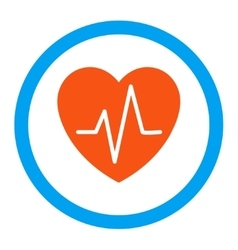 Heart Ekg Rounded Icon vector
