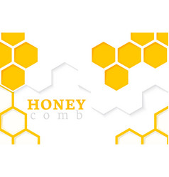 honeycomb background of geometric vector image