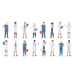 Hospital doctors and nurses doctor vector