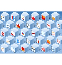 Isometric Stats Element Cube Set vector image