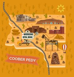 landmark map for australian coober pedy town city vector image