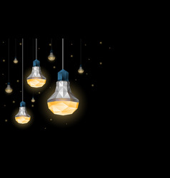 Led light bulbs hanging from the ceiling vector