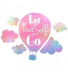 Let yourself go vector
