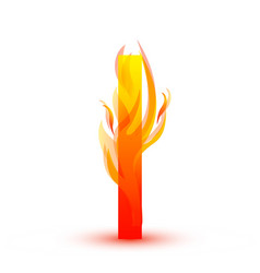 letter i in fire flame icon vector image