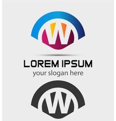 Letter W Logo Design Creative Symbol of letter W vector image