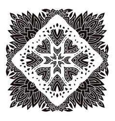 Mandala ornament stencil art design vector