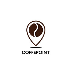minimalistic logo for coffee shop outline vector image