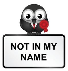 Not in my name vector