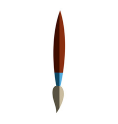 Paint brush supply artistic element vector