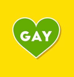 Paper sticker on stylish background of gays vector