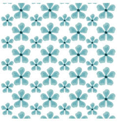 pattern of beautiful flowers nature vector image