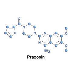 Prazosin sympatholytic drug vector