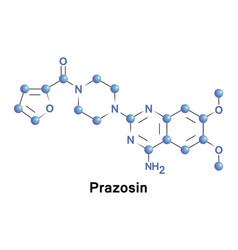 Prazosin sympatholytic drug vector