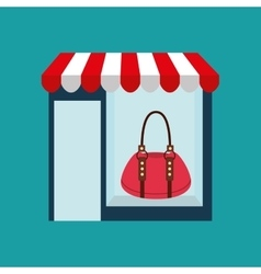 Purse woman buys gifts vector